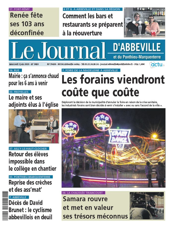 Le Journal d'Abbeville du 03 juin 2020