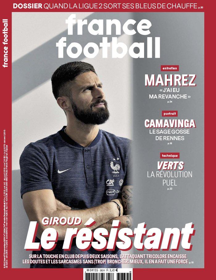 France Football N°3834 du 12 novembre 2019 à télécharger sur iPad