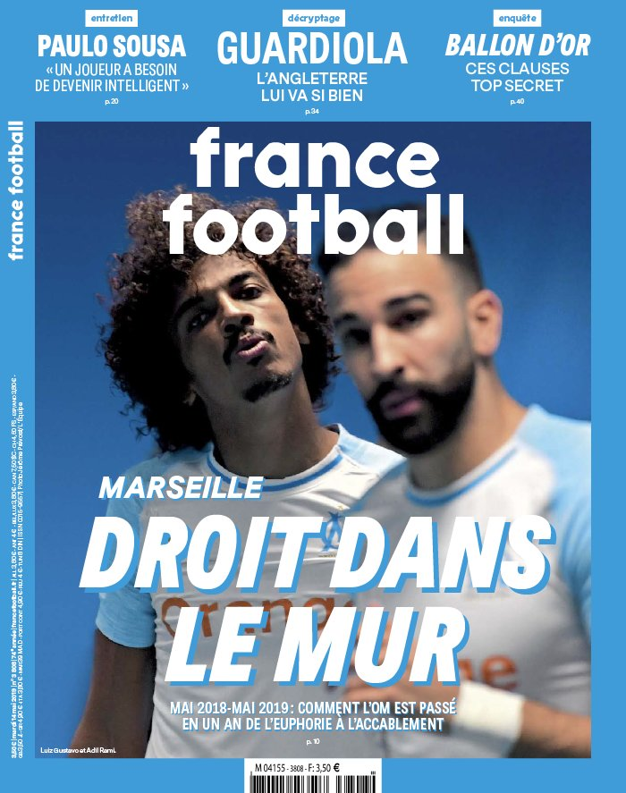 France Football N°3808 du 14 mai 2019 à télécharger sur iPad