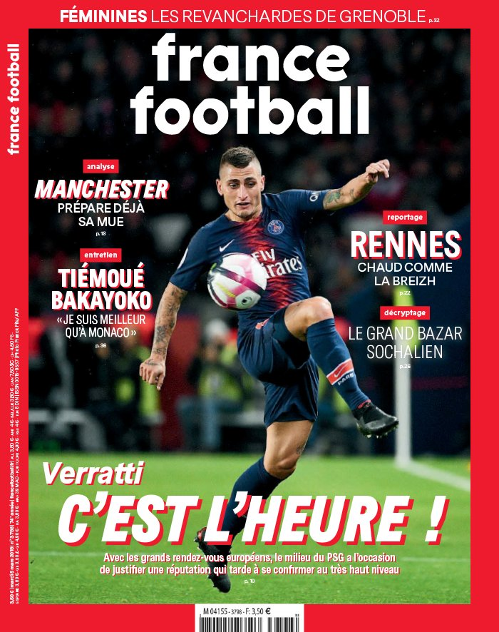 France Football N°3798 du 05 mars 2019 à télécharger sur iPad