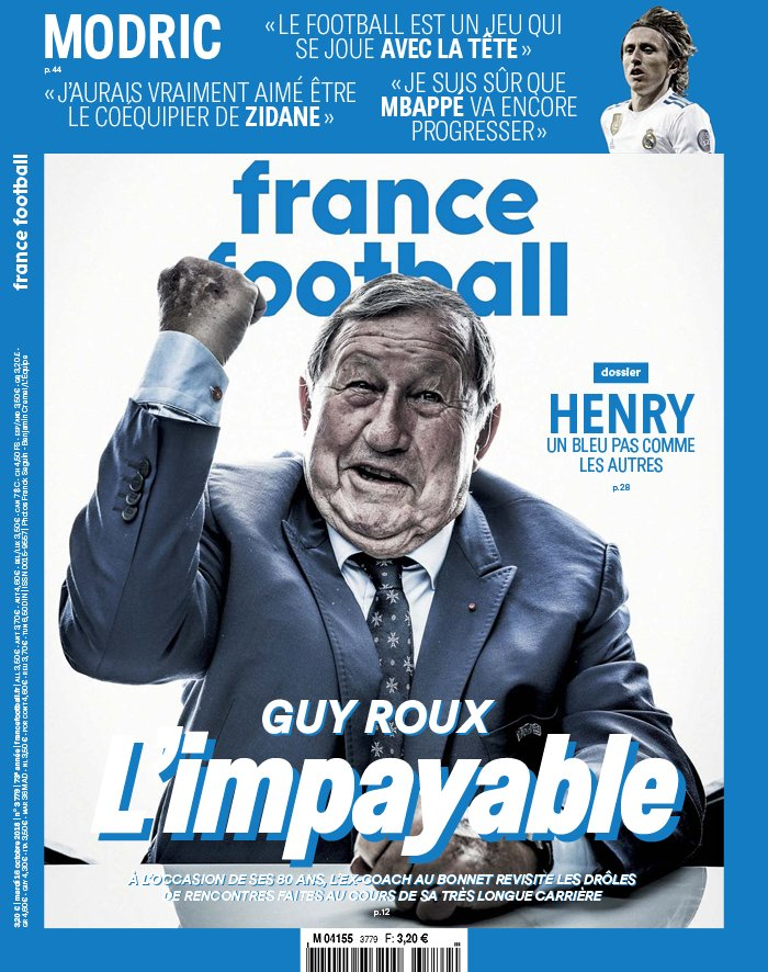 France Football N°3779 du 16 octobre 2018 à télécharger sur iPad