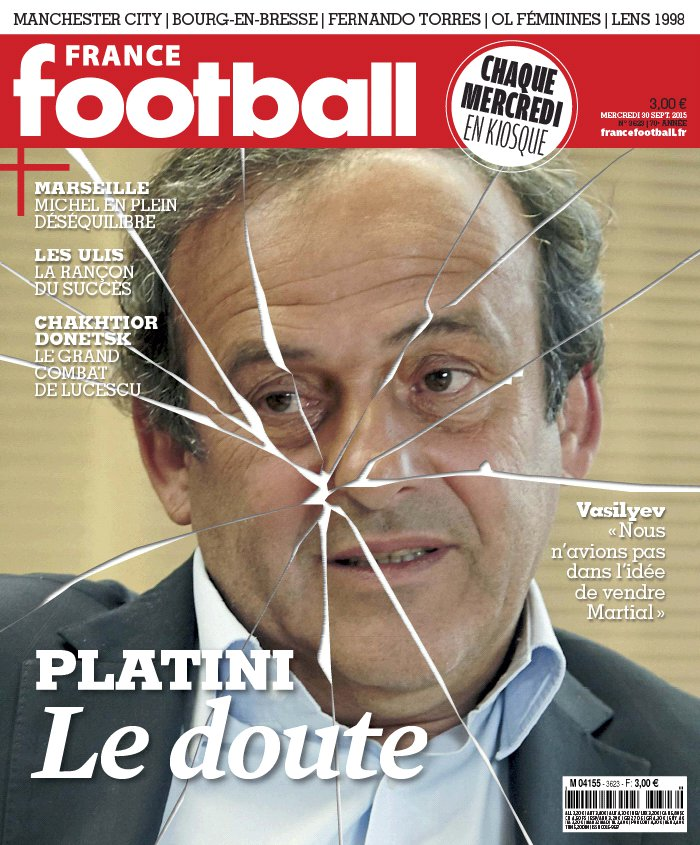 France Football N°3623 du 29 septembre 2015 à télécharger sur iPad
