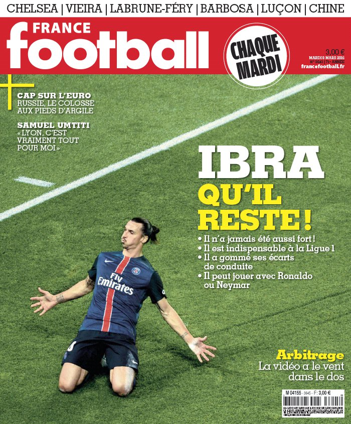 France Football N°3645 du 08 mars 2016 à télécharger sur iPad