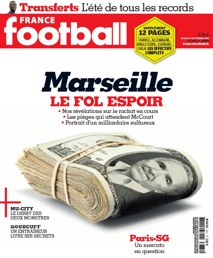 France Football N°3671 du 06 septembre 2016 à télécharger sur iPad