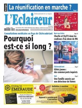 L'Eclaireur de Chateaubriant N°3589 du 30 novembre 2018 à télécharger sur iPad