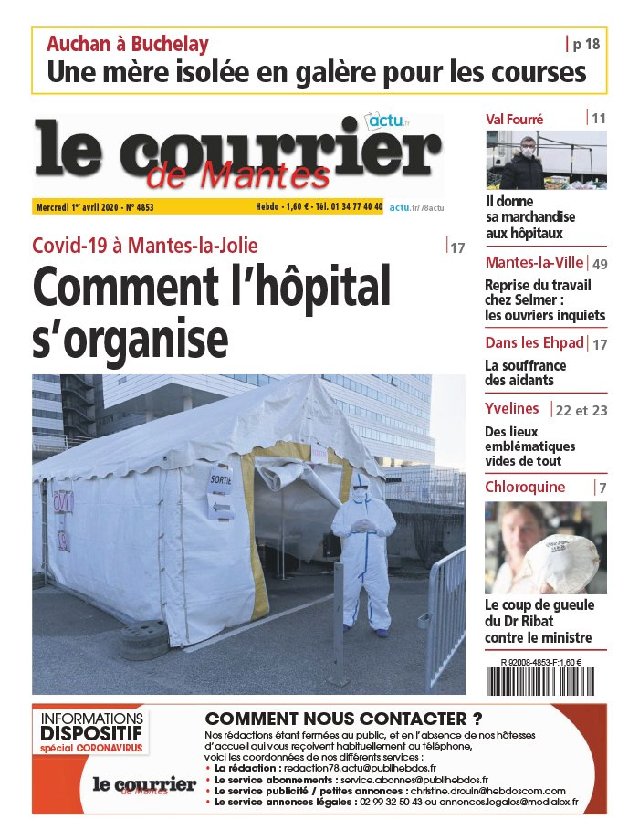 Le Courrier de Mantes du 01 avril 2020