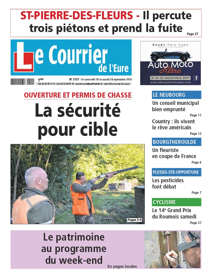 Le Courrier de l'Eure du 18 septembre 2019