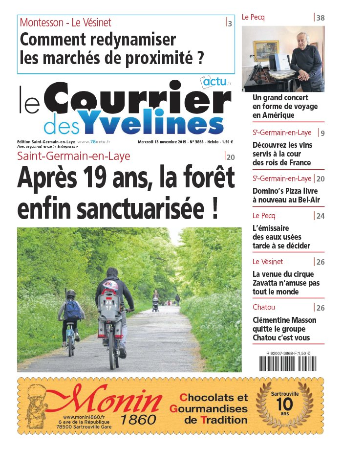 Le Courrier des Yvelines - Saint Germain du 13 novembre 2019