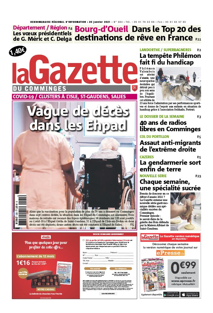 La Gazette du Comminges du 20 janvier 2021