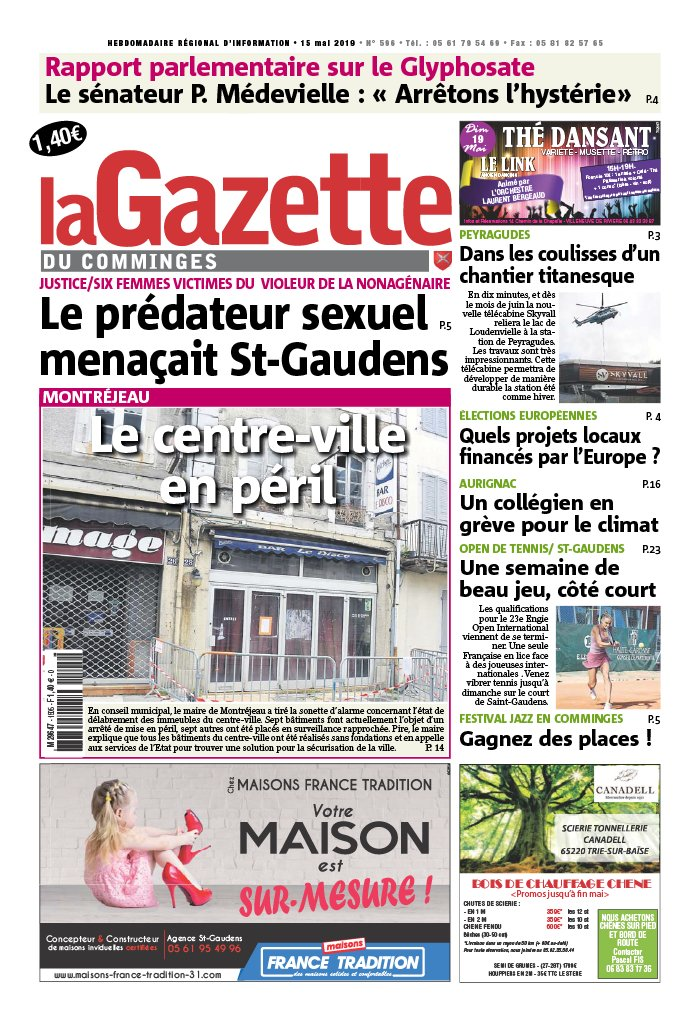 La Gazette du Comminges N°596 du 15 mai 2019 à télécharger sur iPad