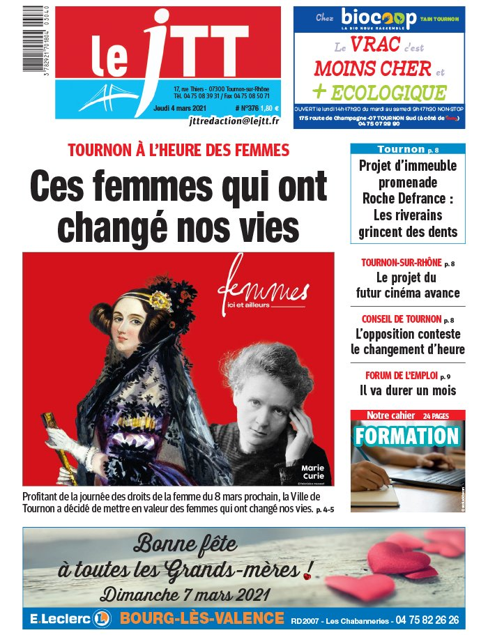 Le Journal de Tournon-Tain du 04 mars 2021
