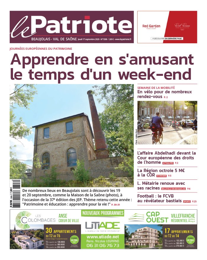 Le Patriote Beaujolais du 17 septembre 2020