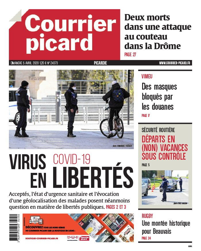 Courrier Picard - Aisne du 05 avril 2020