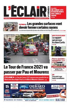 L'Éclair des Pyrénées N°23074 du 02 novembre 2020 à télécharger sur iPad