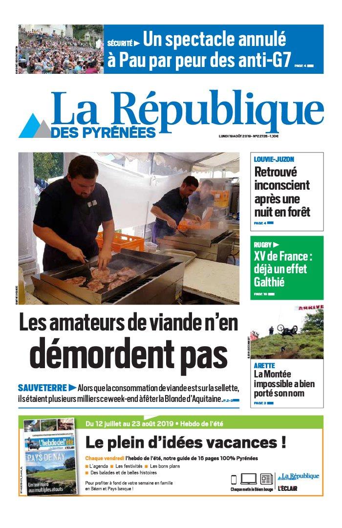 La République des Pyrénées N°20190819 du 19 août 2019 à télécharger sur iPad
