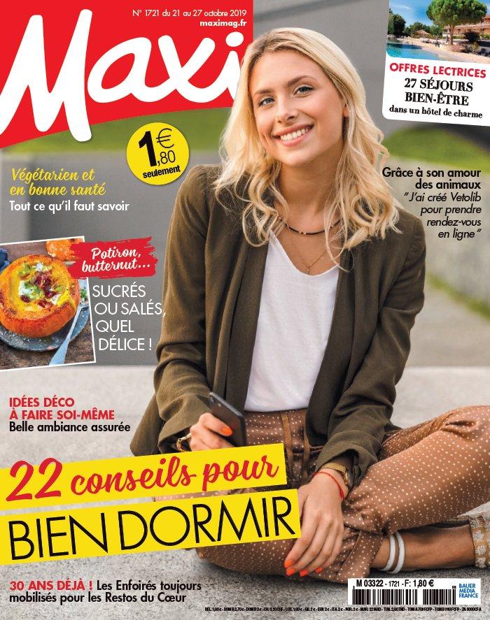 Maxi N°1721 du 21 octobre 2019 à télécharger sur iPad