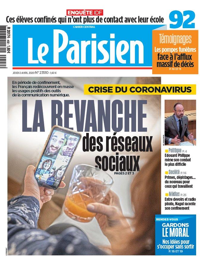 Le Parisien N°20200402 du 02 avril 2020 à télécharger sur iPad