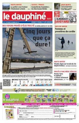 Le Dauphiné Libéré N°20191119 du 19 novembre 2019 à télécharger sur iPad