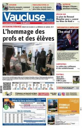 Le Dauphiné Libéré N°20201103 du 03 novembre 2020 à télécharger sur iPad