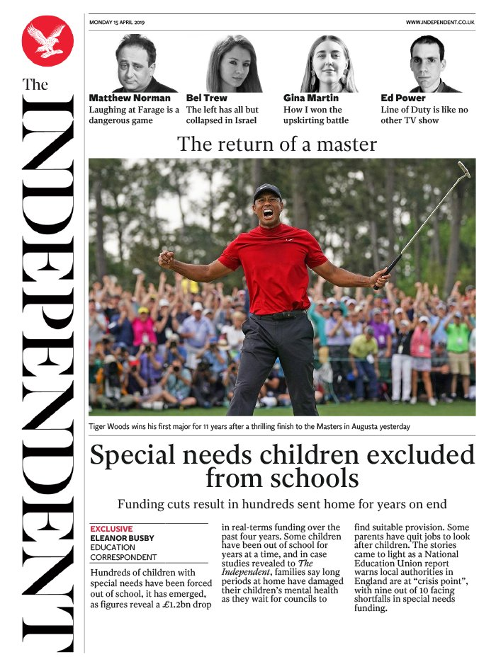 The Independent N°20190415 du 15 avril 2019 à télécharger sur iPad