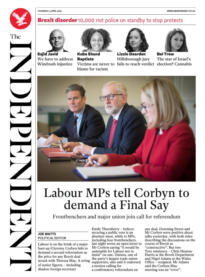 The Independent N°20190404 du 04 avril 2019 à télécharger sur iPad