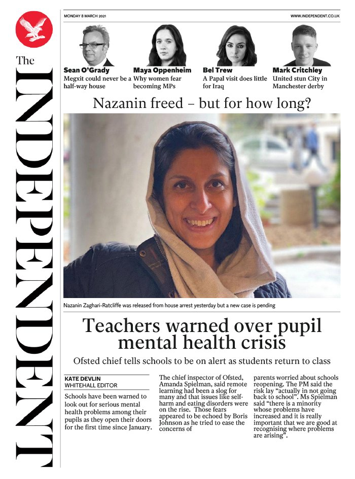 The Independent du 08 mars 2021