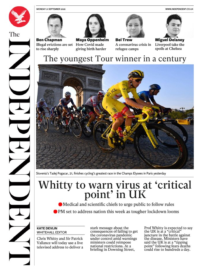 The Independent du 21 septembre 2020