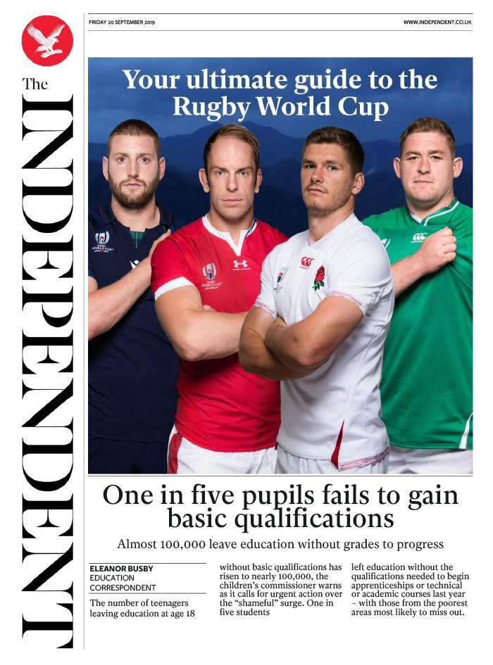 The Independent du 20 septembre 2019