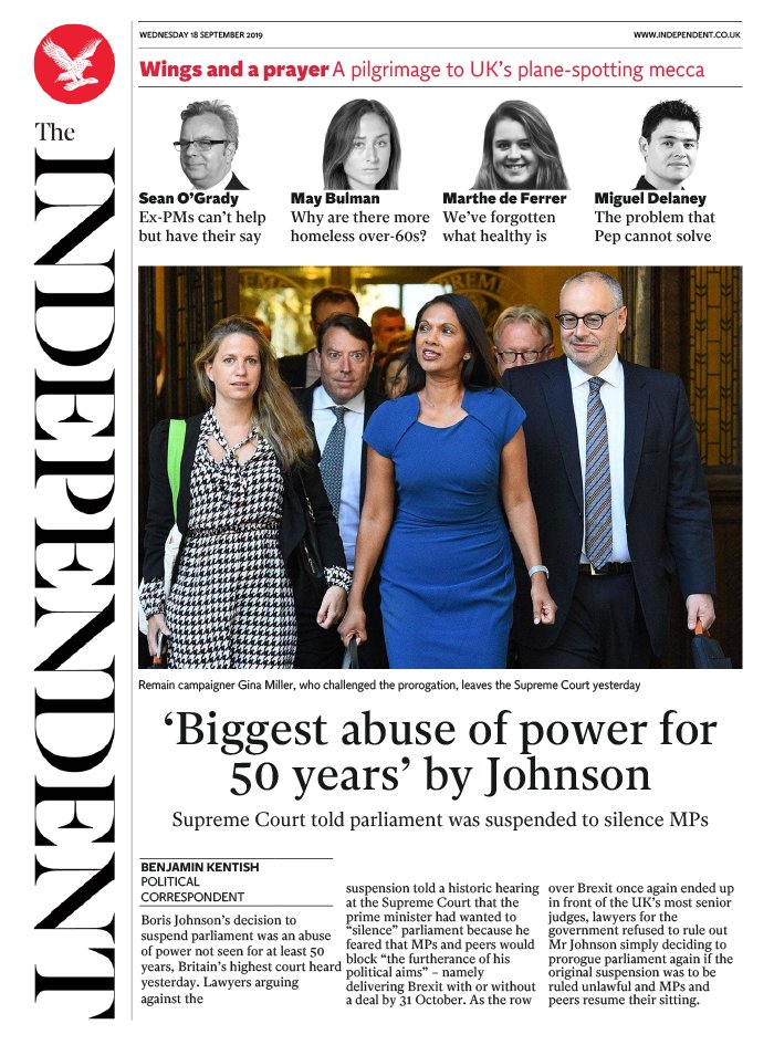 The Independent N°20190918 du 18 septembre 2019 à télécharger sur iPad