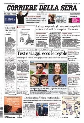 Corriere Della Sera N°20200813 du 13 août 2020 à télécharger sur iPad