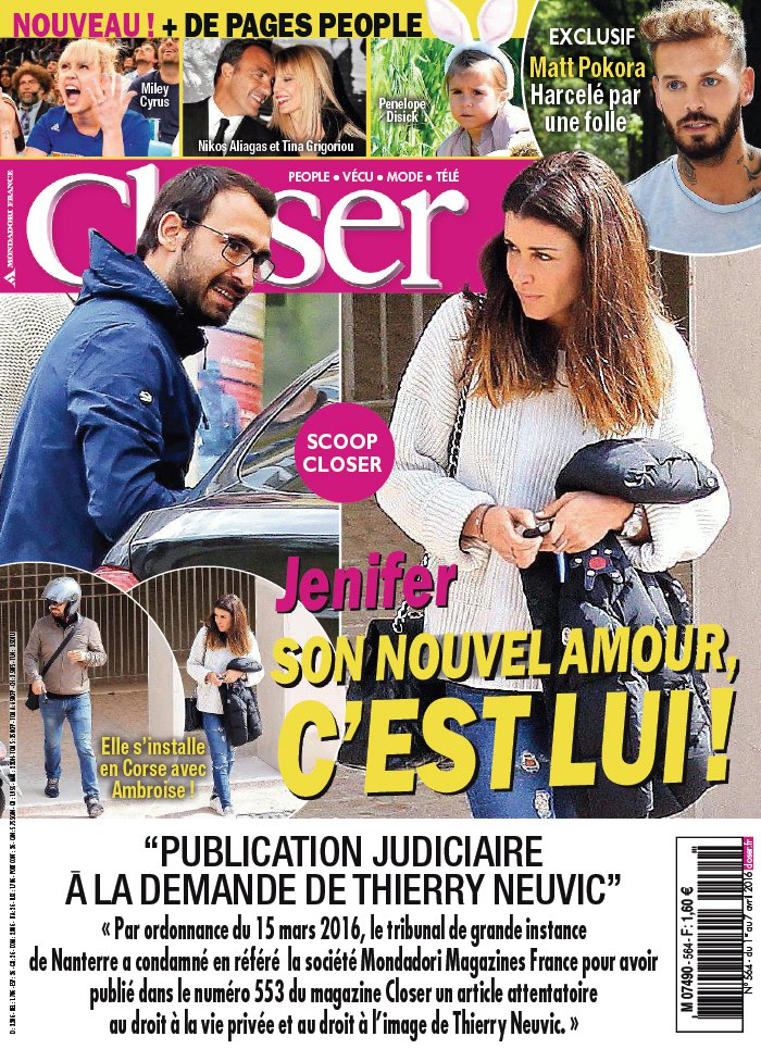 Closer N°564 du 01 avril 2016 à télécharger sur iPad