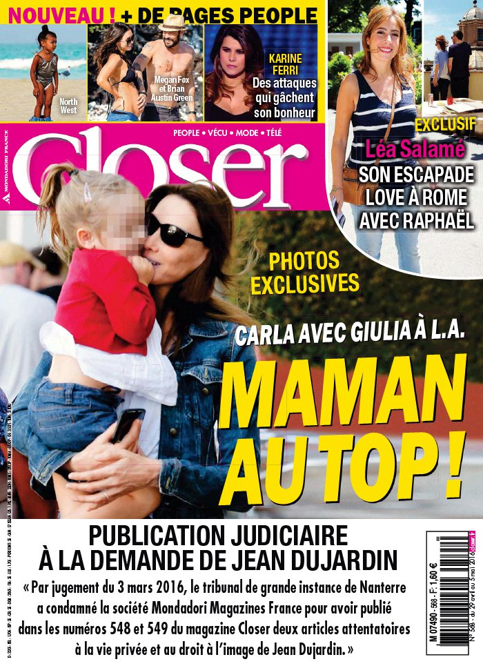 Closer N°568 du 29 avril 2016 à télécharger sur iPad