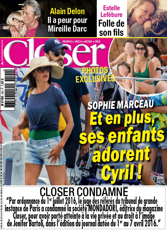 Closer N°590 du 30 septembre 2016 à télécharger sur iPad
