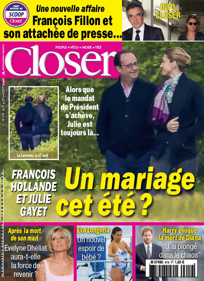 Closer N°619 du 21 avril 2017 à télécharger sur iPad
