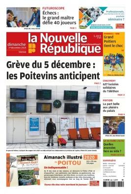 La Nouvelle République Dimanche N°20191201 du 01 décembre 2019 à télécharger sur iPad