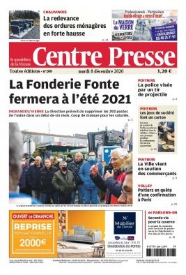 Centre Presse N°20201208 du 08 décembre 2020 à télécharger sur iPad