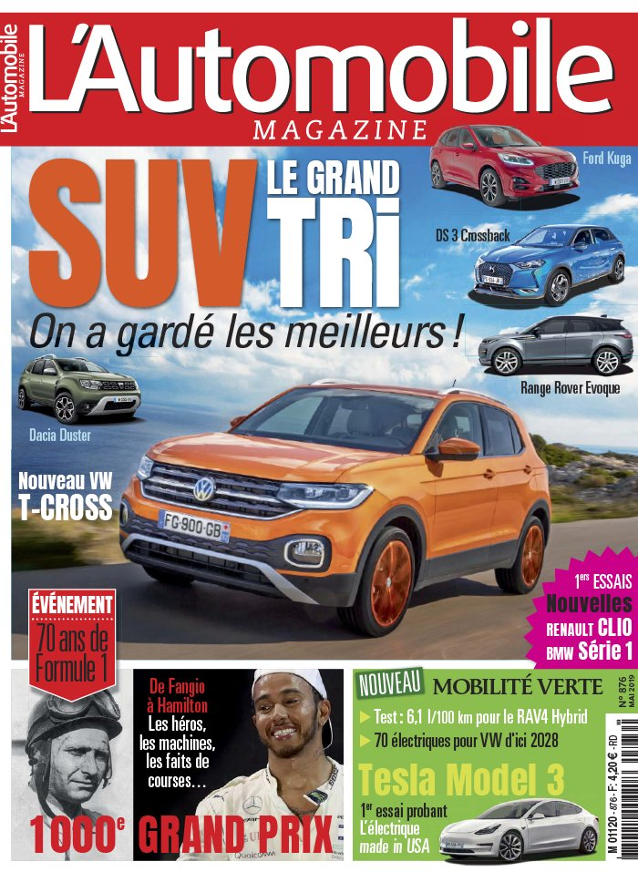 L'Automobile Magazine N°876 du 11 avril 2019 à télécharger sur iPad