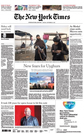 The New York Times International Edition 27 septembre 2021